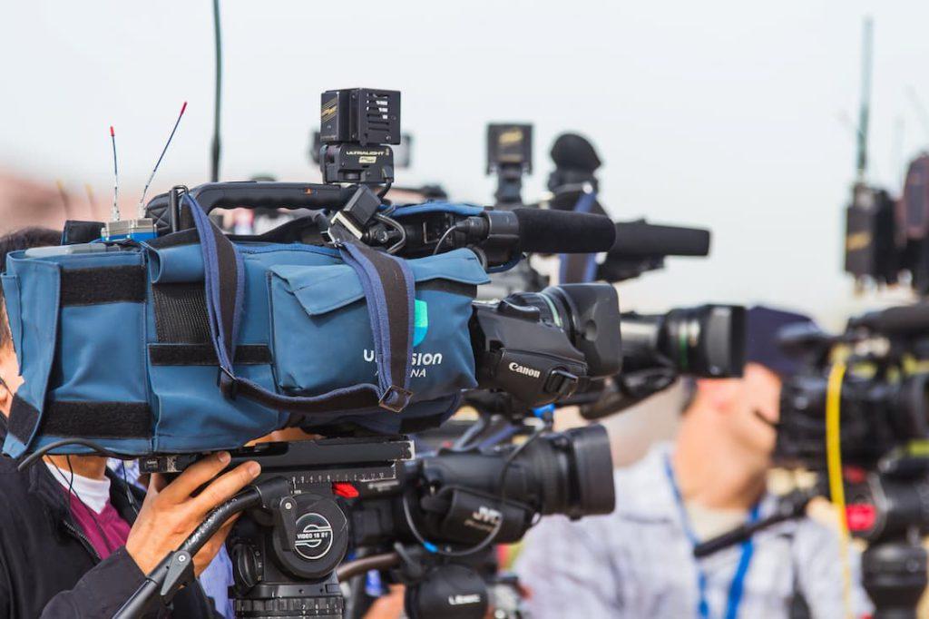Caméras de la presse
